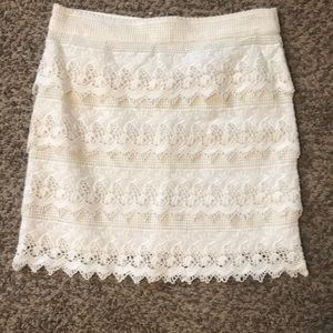 Off white mini skirt